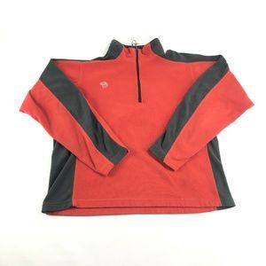 Mountain Hardwear Orange 1/4 Zip Fleece Pullover